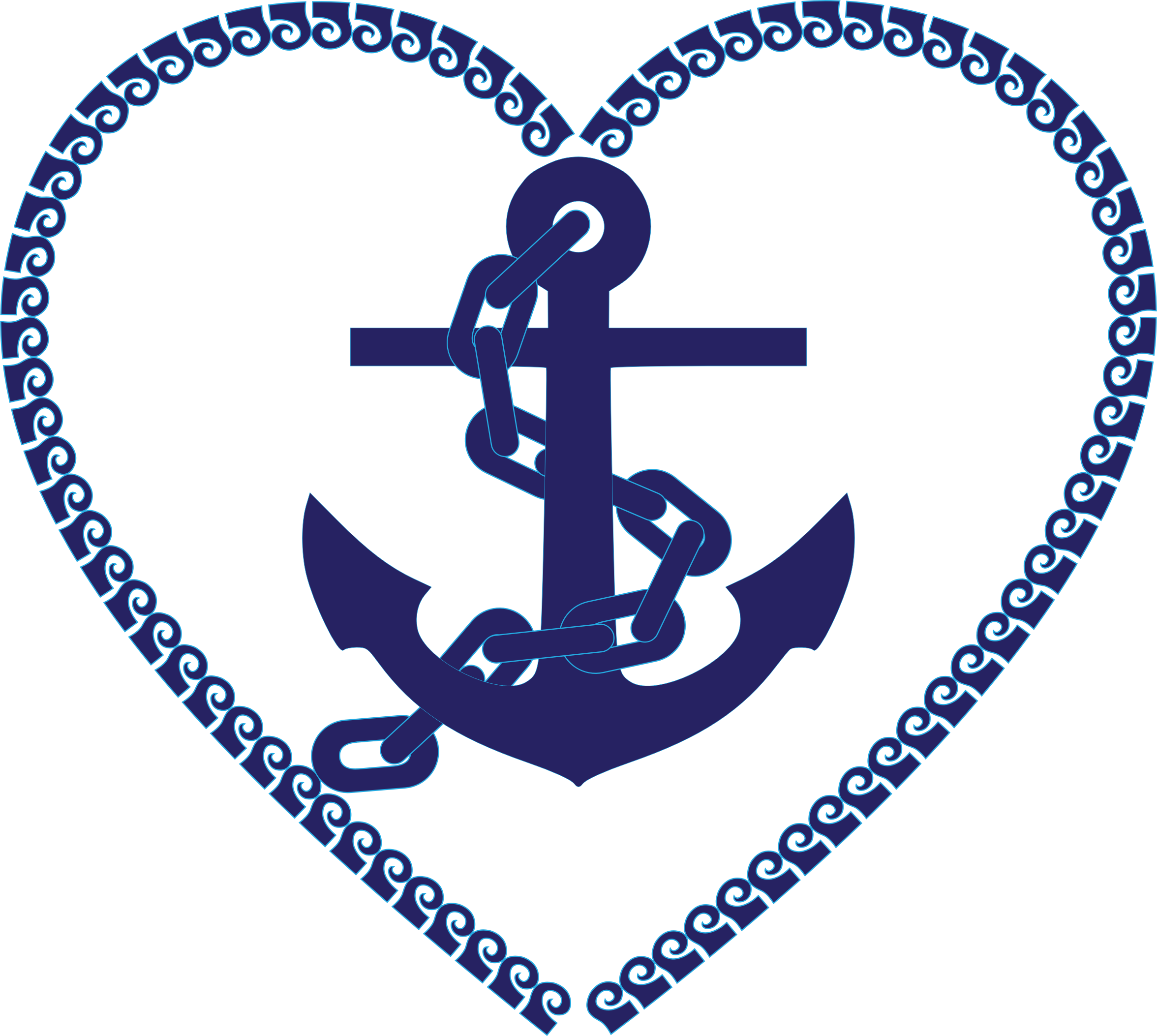 Nautical Anchor Heart Clip Art Free.