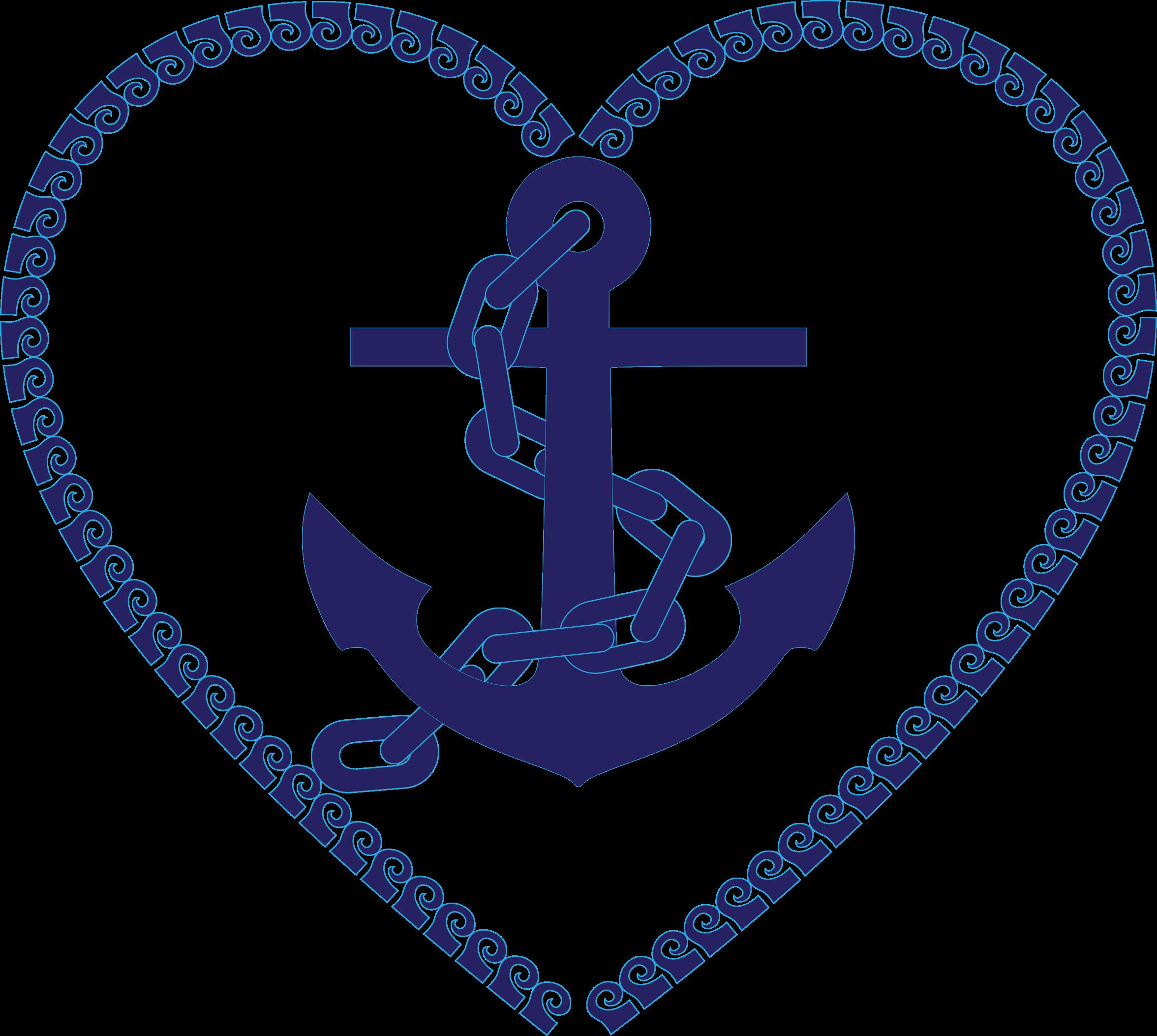 Nautical Anchor Heart Clip Art Free.