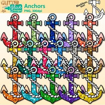 Ship Anchor Clip Art: Anchor Chart and Nautical Graphics {Glitter Meets  Glue}.