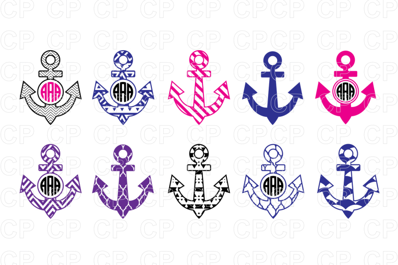 Free Anchor Bundle SVG Cut Files, Anchor Clipart Crafter.