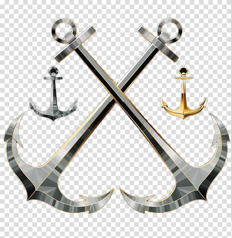 Anchor Computer file, Crossed anchors transparent background.