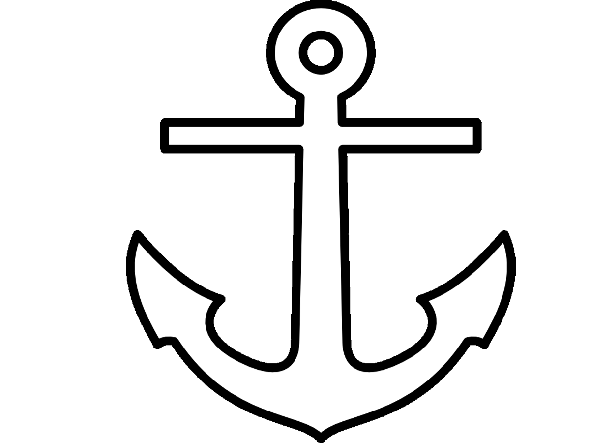 Clipart anchor traceable, Clipart anchor traceable.