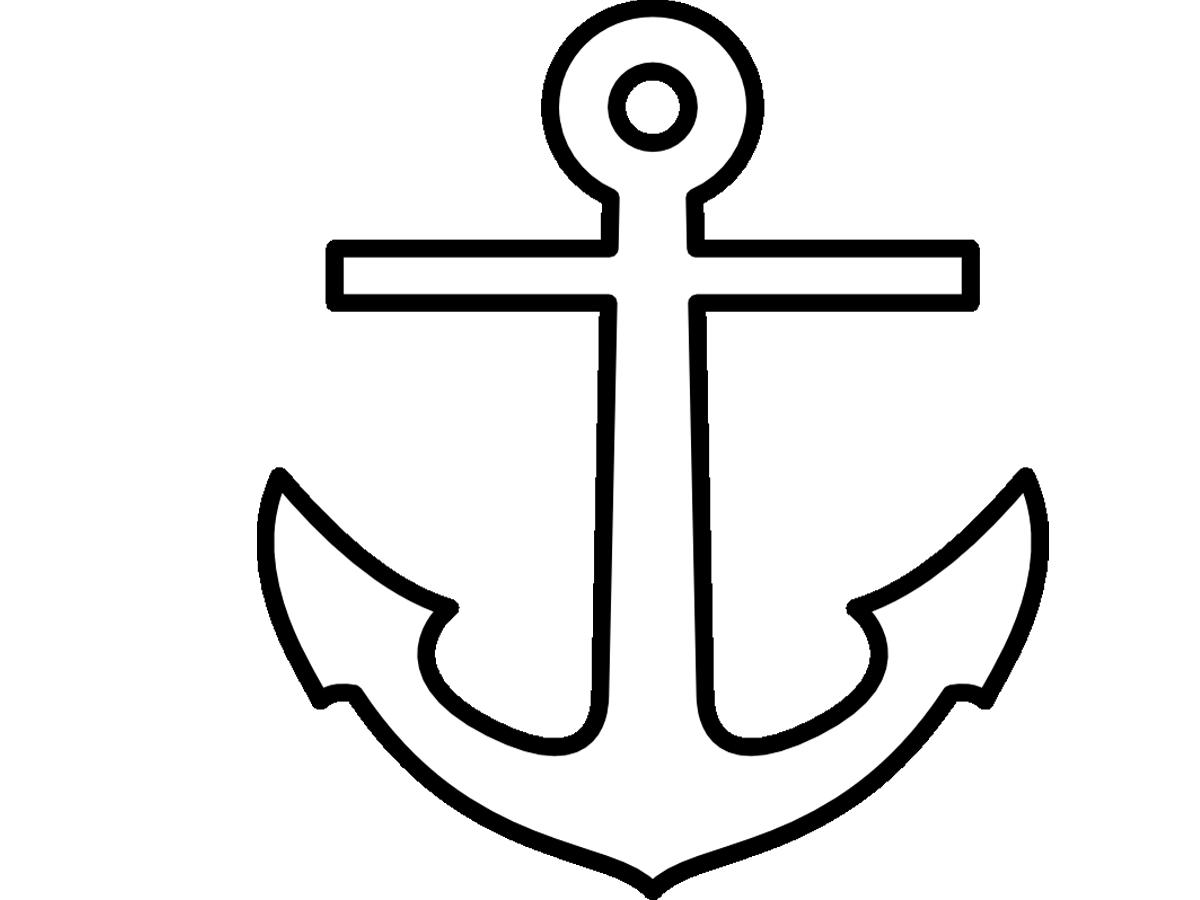 Clipart anchor traceable, Clipart anchor traceable.