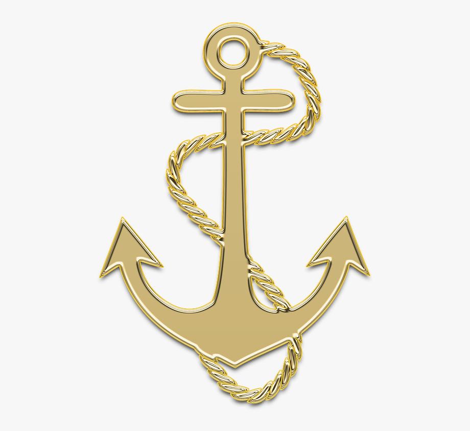 Anchor, Marine, Sea, Ship, Golden, Decor, Gold, Sailor.