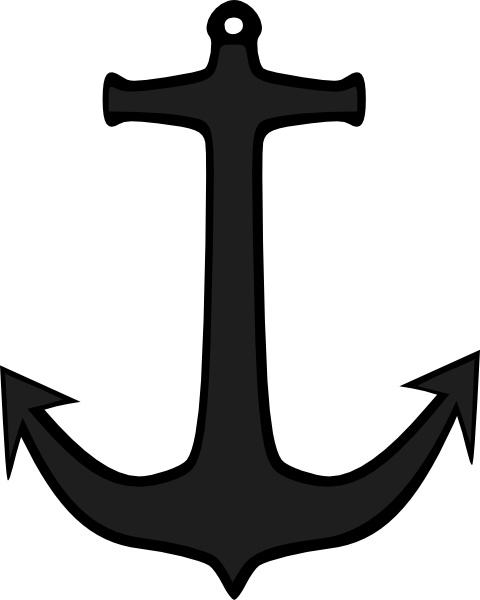 Simple anchor clip art free vector in open office drawing.