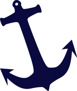 Tilt Navy Anchor clip art.