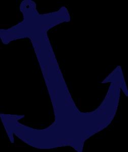 Tilt Navy Anchor clip art.