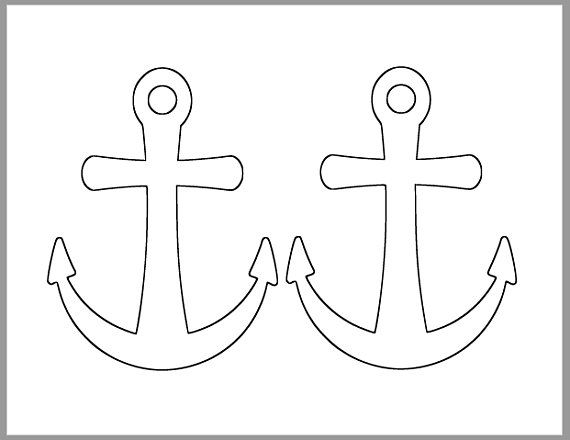 6 inch Printable Anchor Template.