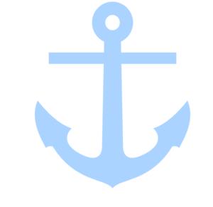 Light Blue Anchor Clip.
