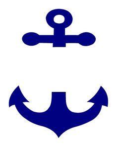 free chevron anchor monogram design.