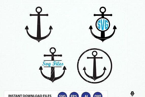 Anchor svg, Anchor monogram, Nautical svg, Anchor Svg Clip art, Anchor  monogram svg. Anchor cut files.