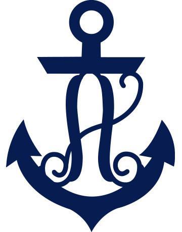 Anchor clipart monogram, Anchor monogram Transparent FREE for.