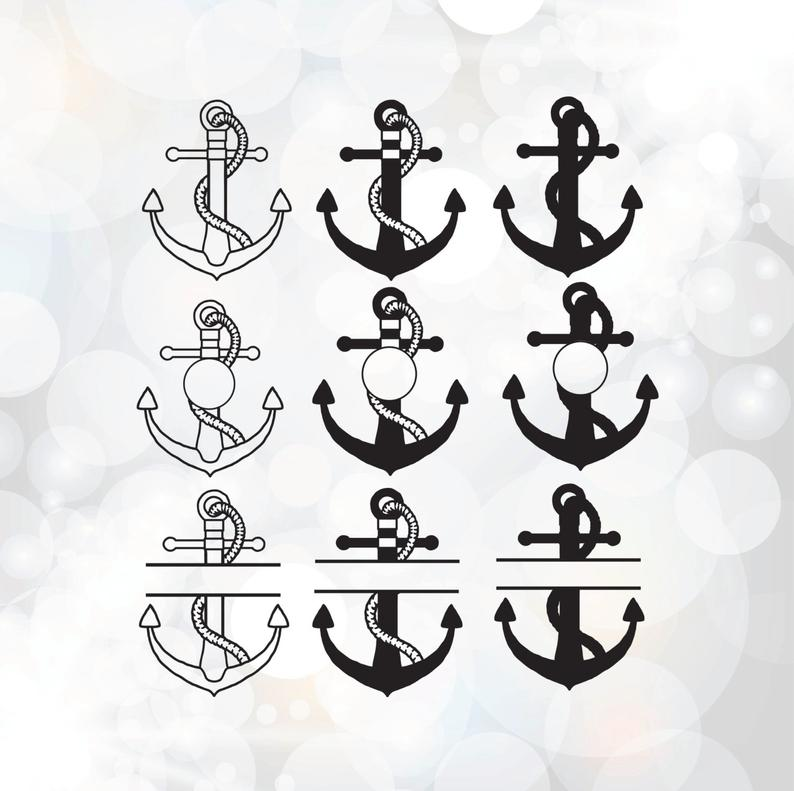Anchor Svg bundle.