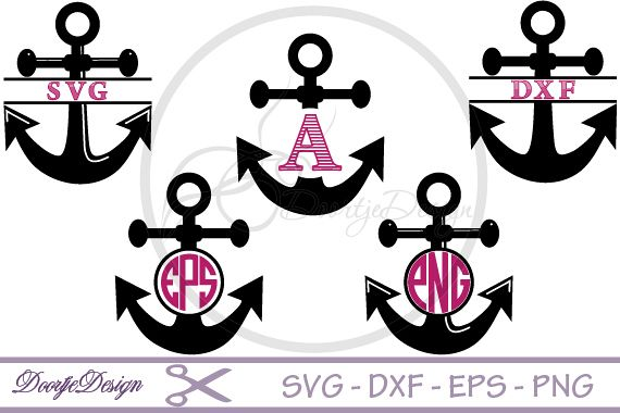 Anchor Monogram SVG files.