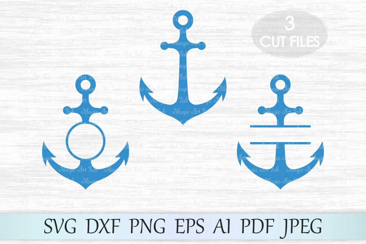 Anchor svg, Anchor monogram svg, Anchor frames svg, Anchor vector, Anchor  cut, Anchor clipart, Anchor circle monogram, Anchor cut file.