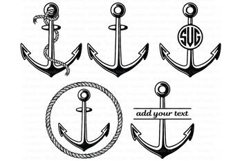 Anchor SVG, Rope Anchor, Anchor Monogram, Anchor SVG files.