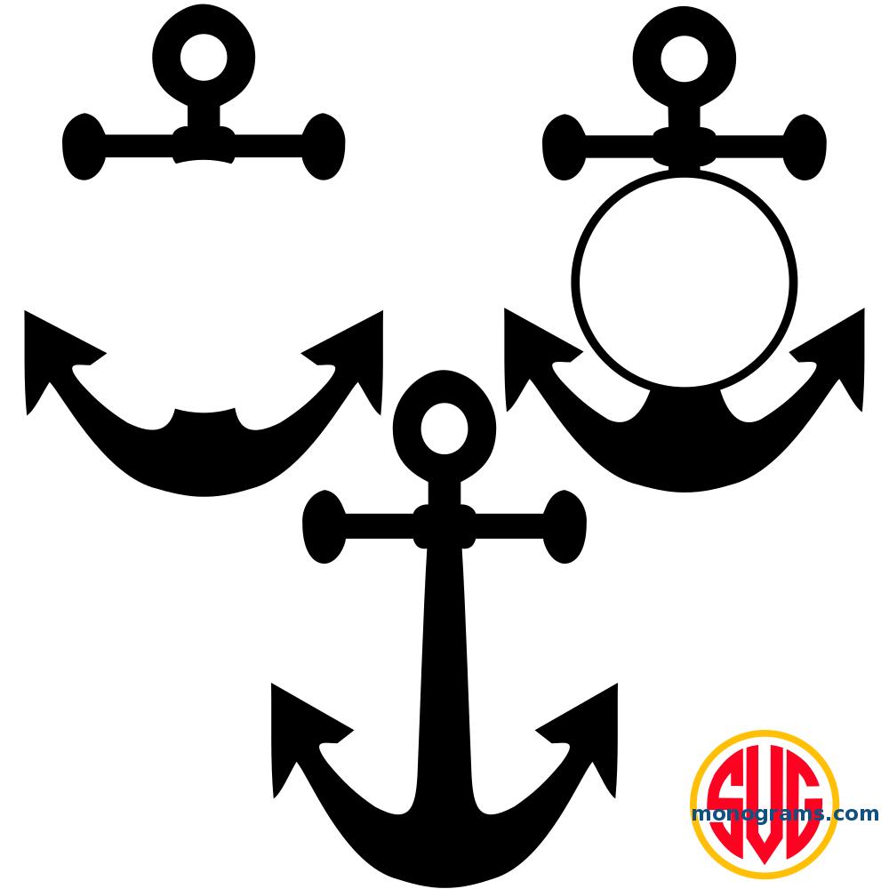 Anchor and Anchor Frames for Monograms.