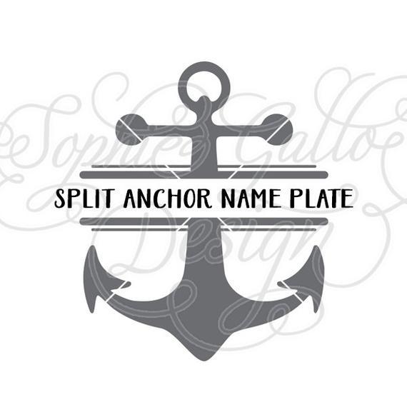 Split Anchor Monogram SVG, PNG & DXF digital download files Silhouette  Cricut vector clipart graphics Vinyl Cutting Machine, Screen Printing.