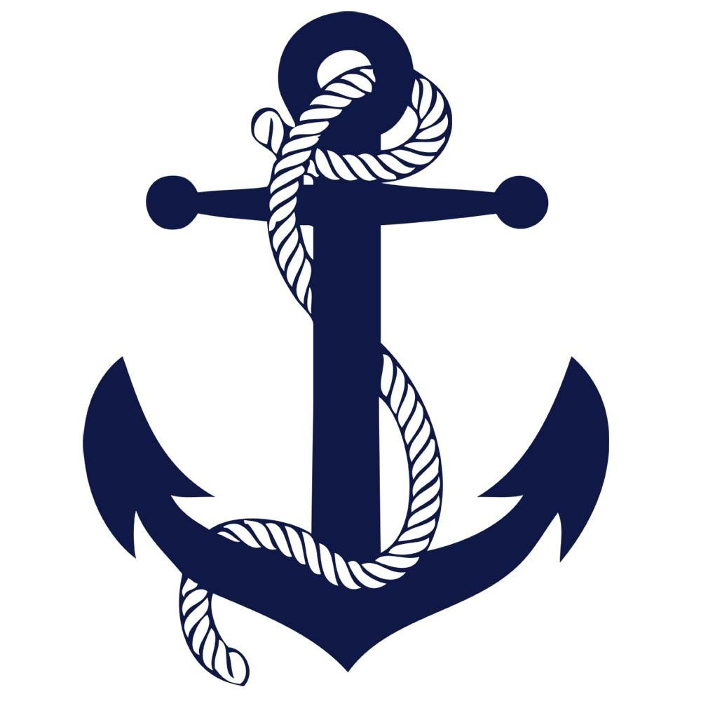 Navy Anchor Rope Clipart.