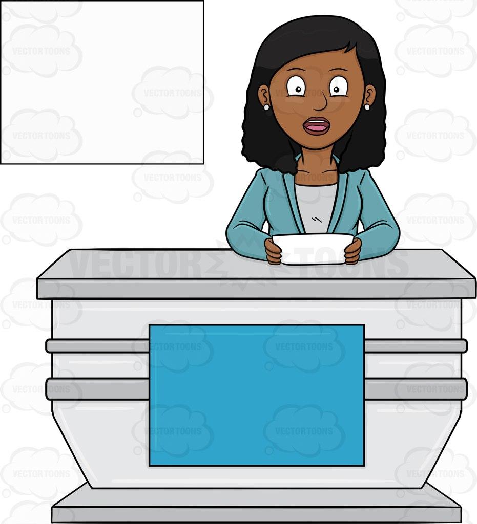 News Presenter Clipart.