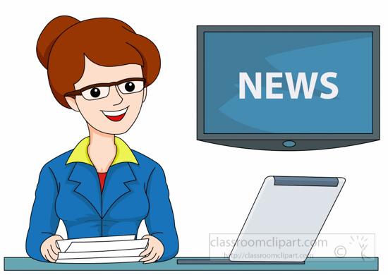Female tv news anchor clipart » Clipart Station.