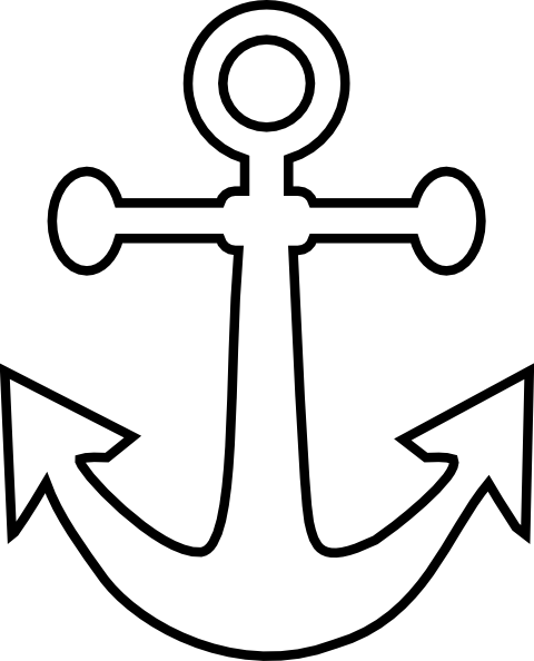 Small Anchor Outline clip art.