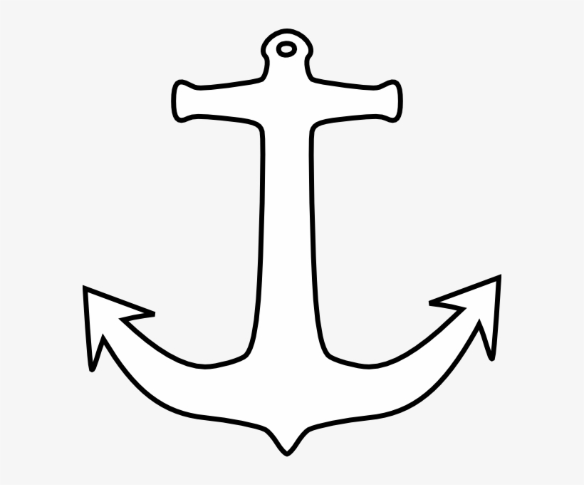 Anchor Outline Clip Art Transparent PNG.