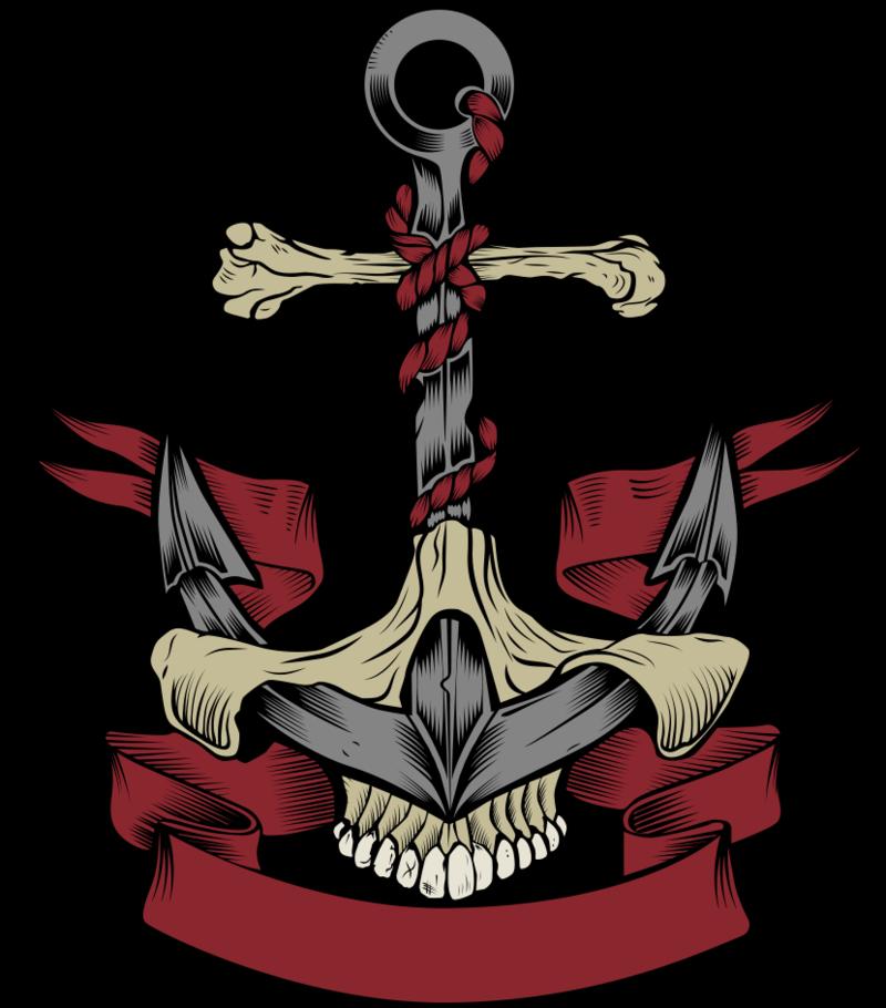 Download Free png Calavera Vector Anchor Skull Euclidean HD Image.