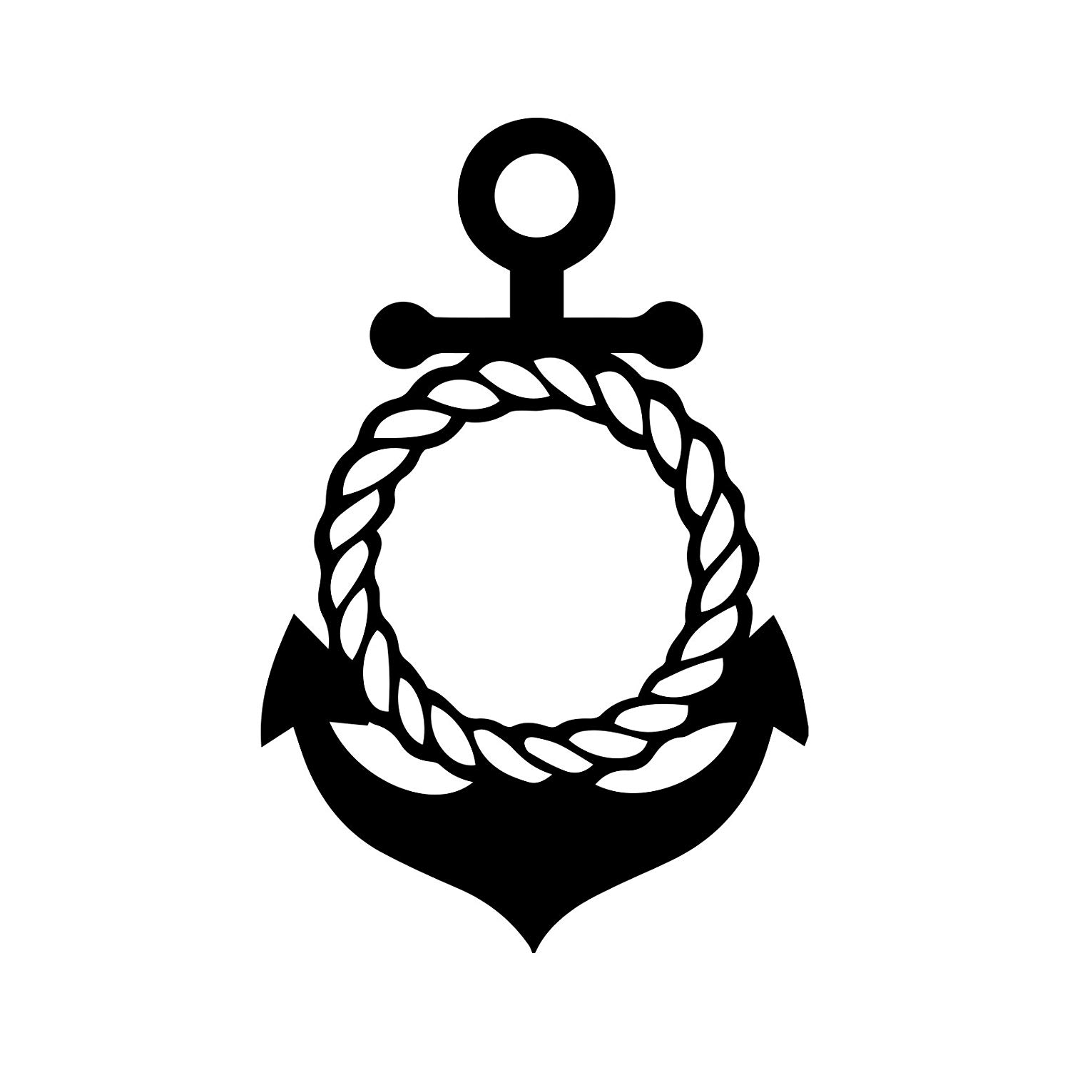 Amazon.com: Bargain Max Decals Anchor Rope Circle Decal.