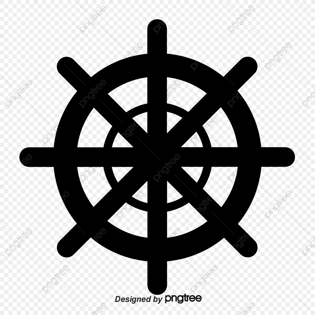 Nautical Elements Silhouette, Silhouette Vector, Navigation, Anchor.