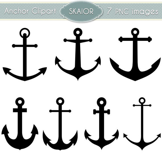 Anchor Clipart Vector Anchor Clip Art Nautical Clipart.
