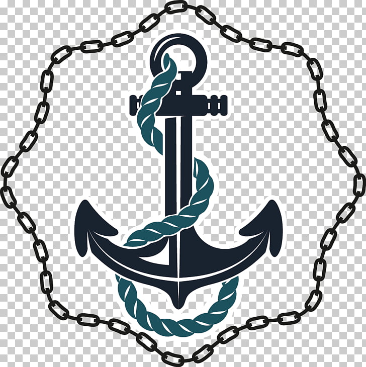 Anchor Chain Drawer Rope , Flat anchor PNG clipart.