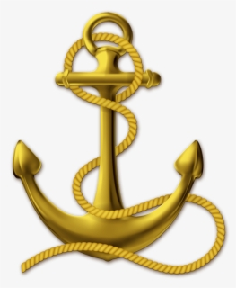 Free Anchor With Rope Clip Art with No Background.