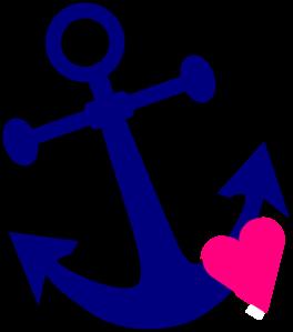 Anchor With Heart clip art.