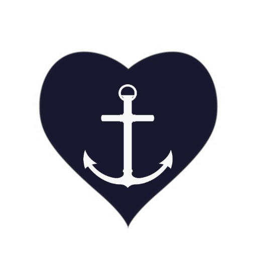 Anchor With Heart Clipart.