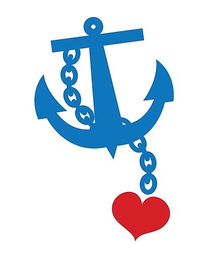 Heart clip art anchor.