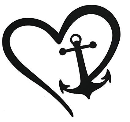 WickedGoodz Die Cut Heart Anchor Decal.