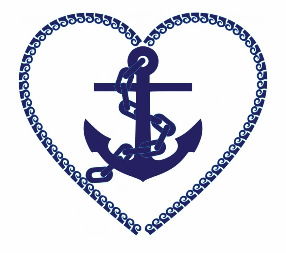 Clipart Nautical Heart Anchor.