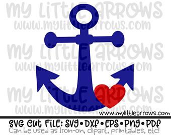 Heart anchor svg.