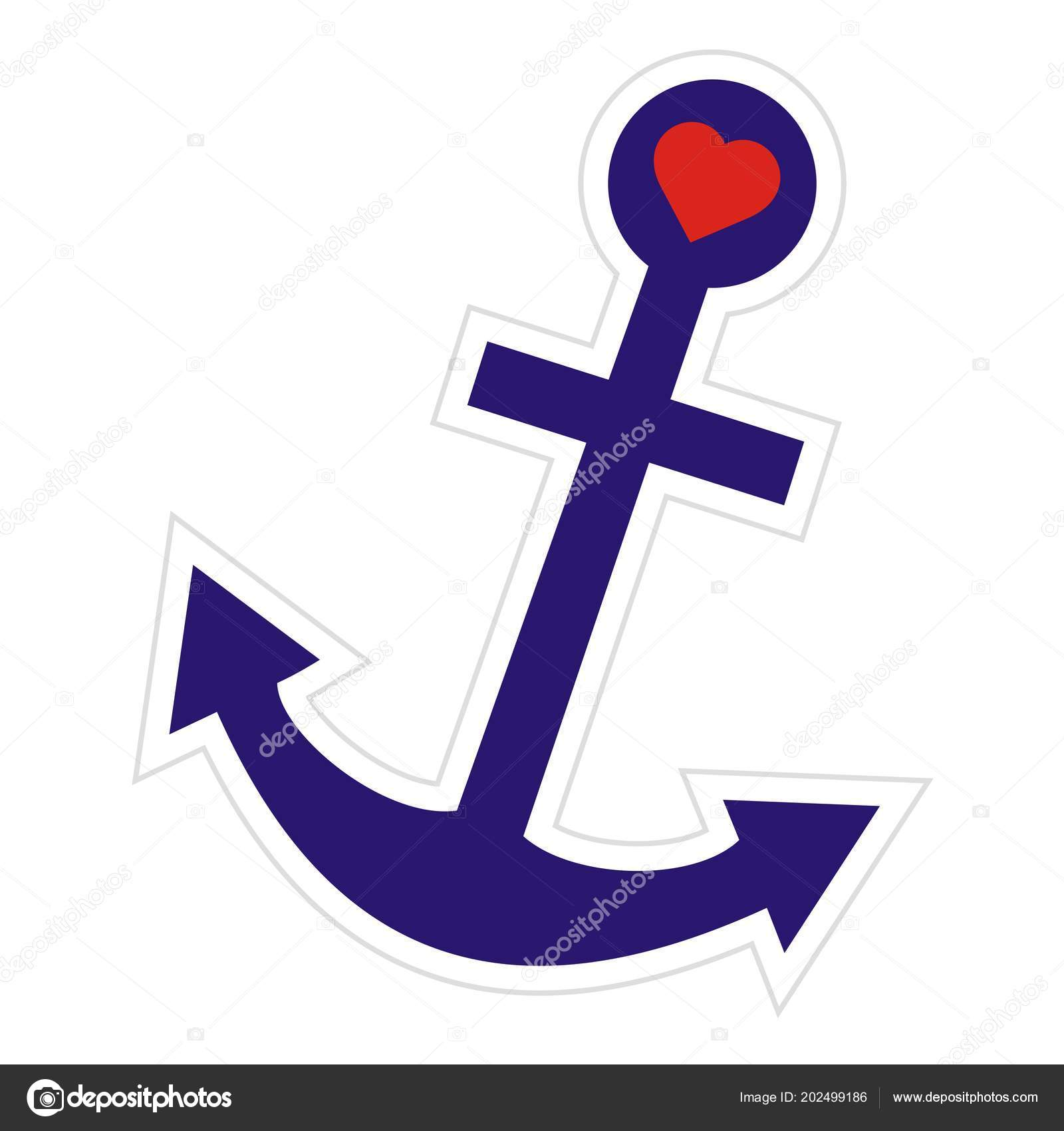 Clipart: anchor with heart.