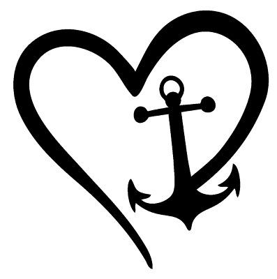 Anchor Heart Nautical Love Vinyl Decal Sticker Home Cup Wall Car Decor  Choice.