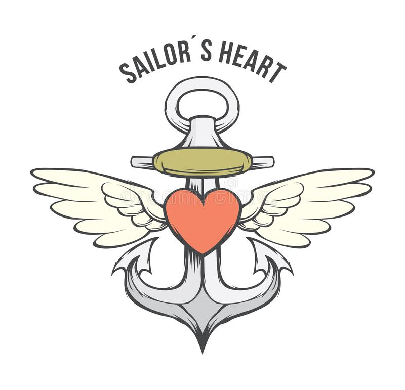 Anchor Heart Stock Illustrations.