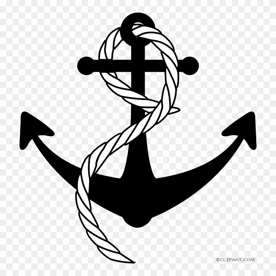 Anchor With Rope Transparent Clipart Anchor Rope Clip.
