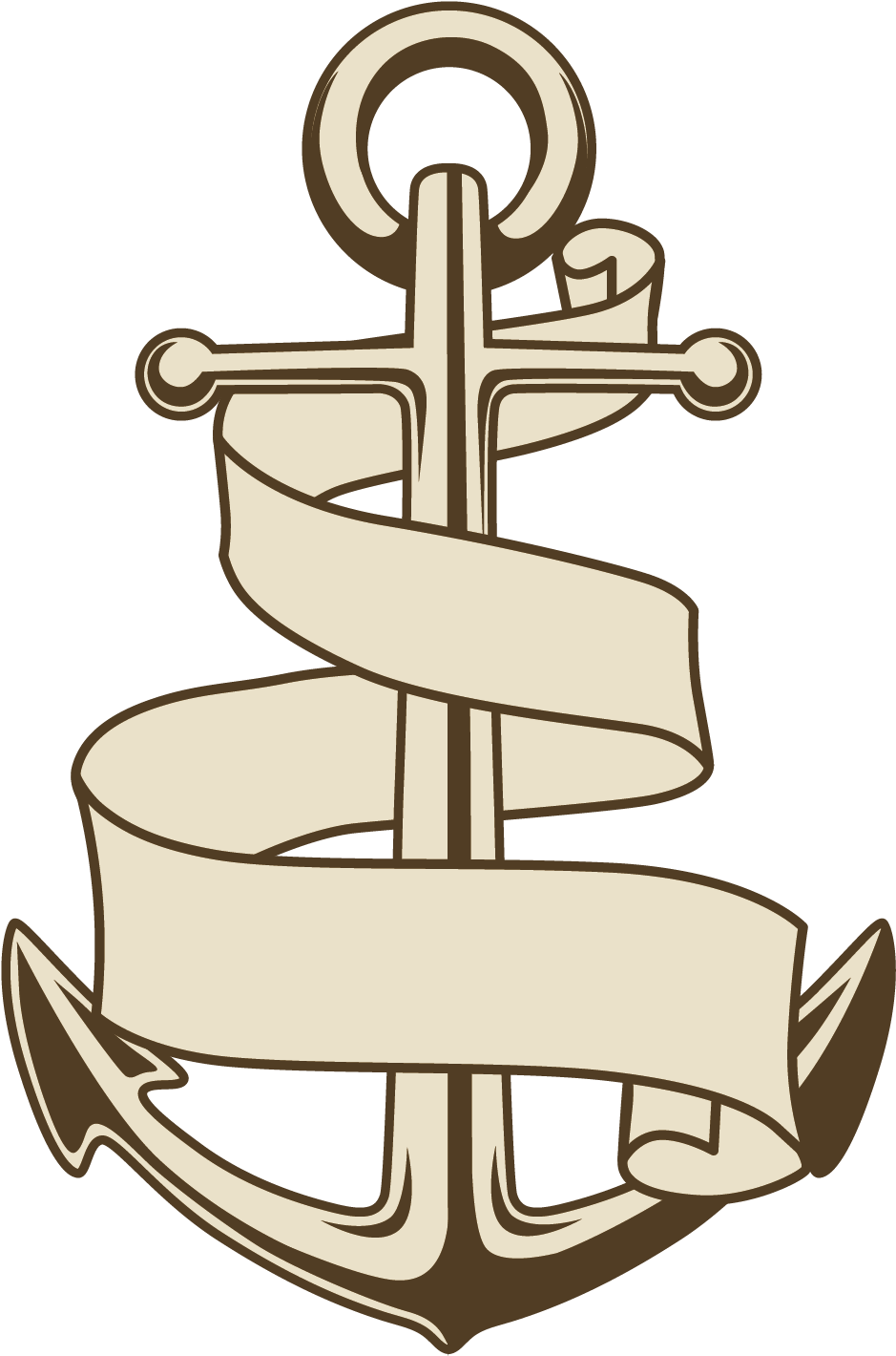 Drawn Anchor Ship.