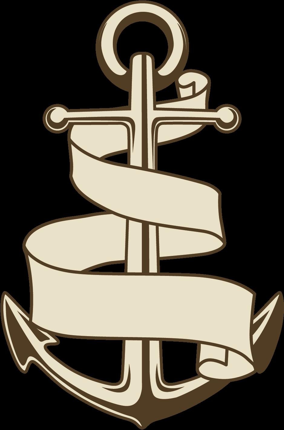 Drawn Anchor Ship.