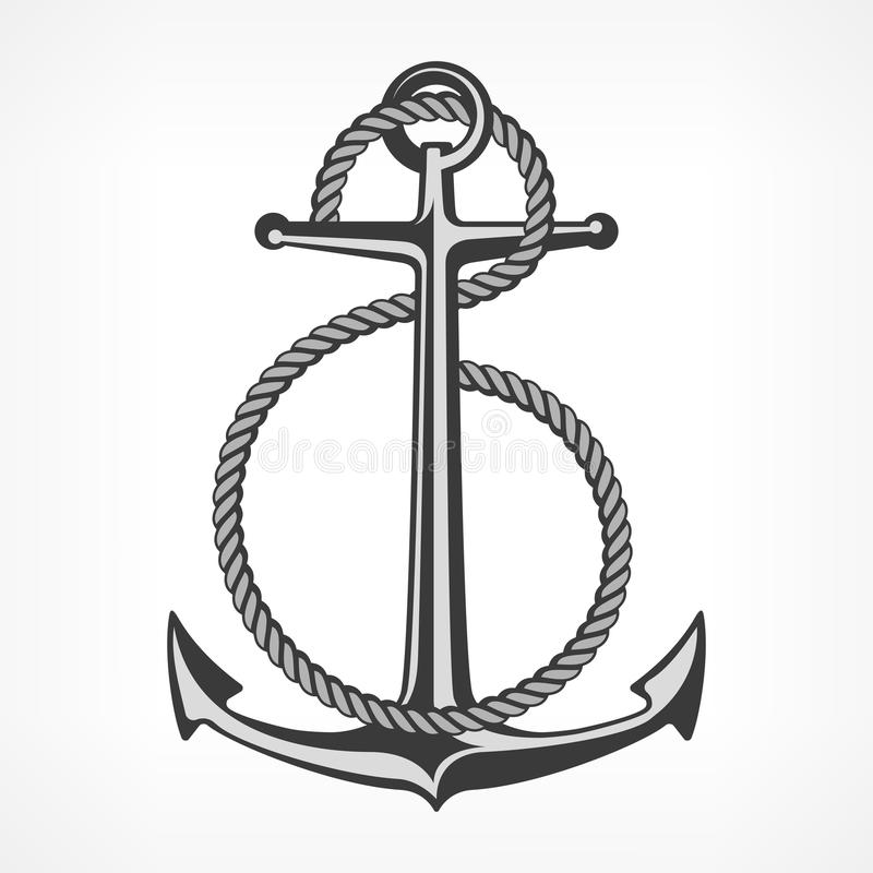 Anchor Rope Stock Illustrations.