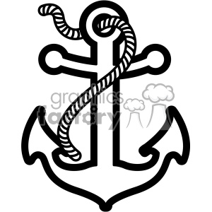 anchor with rope svg cut file clipart. Royalty.
