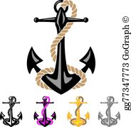 Anchor And Rope Clip Art.