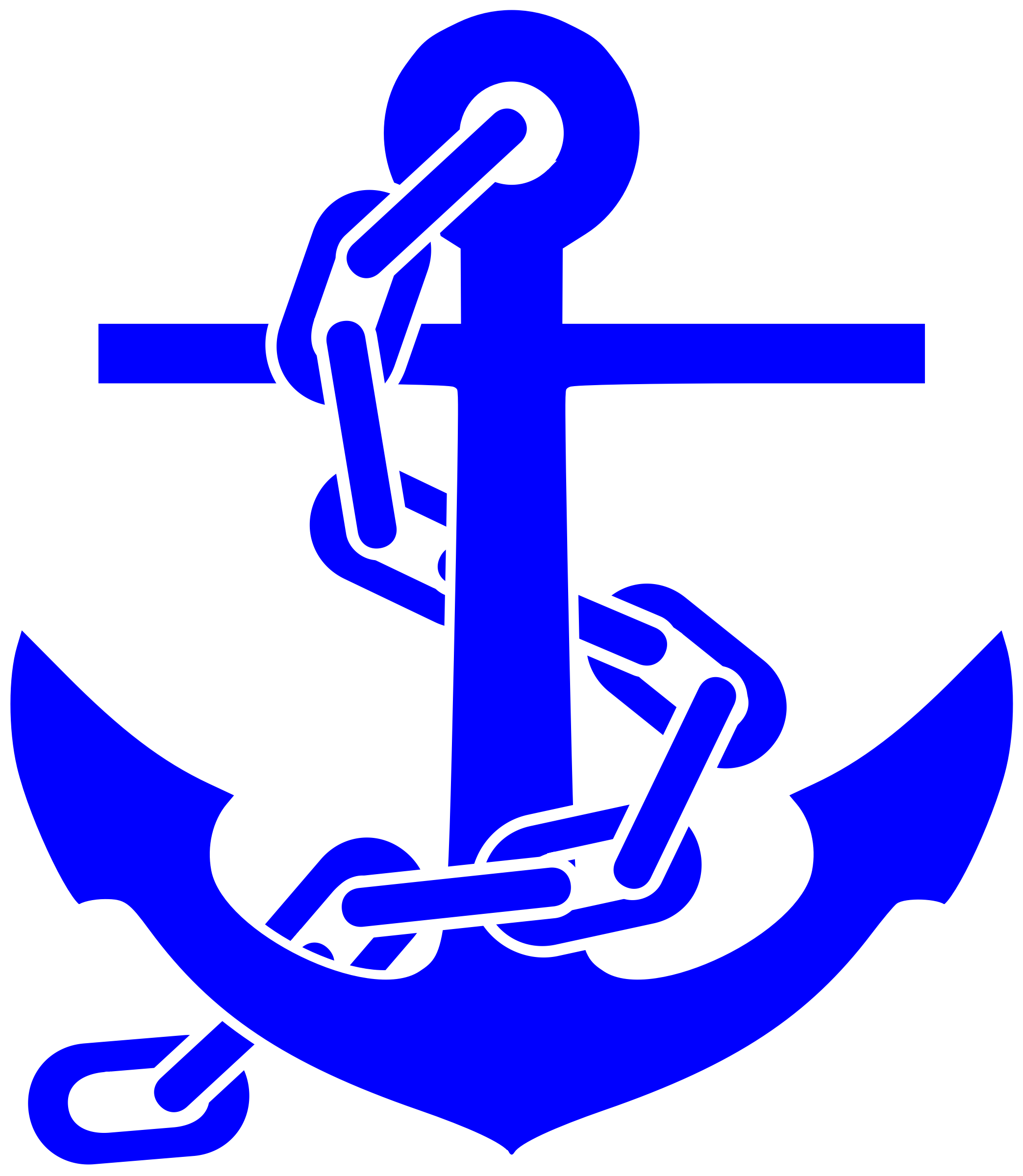 Anchor with chain clipart.