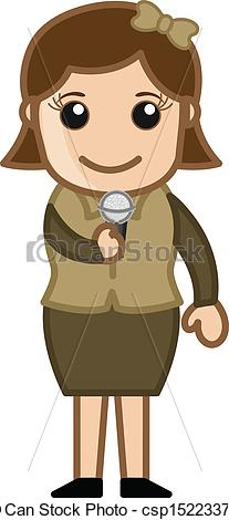 Vectors Illustration of TV Anchor.